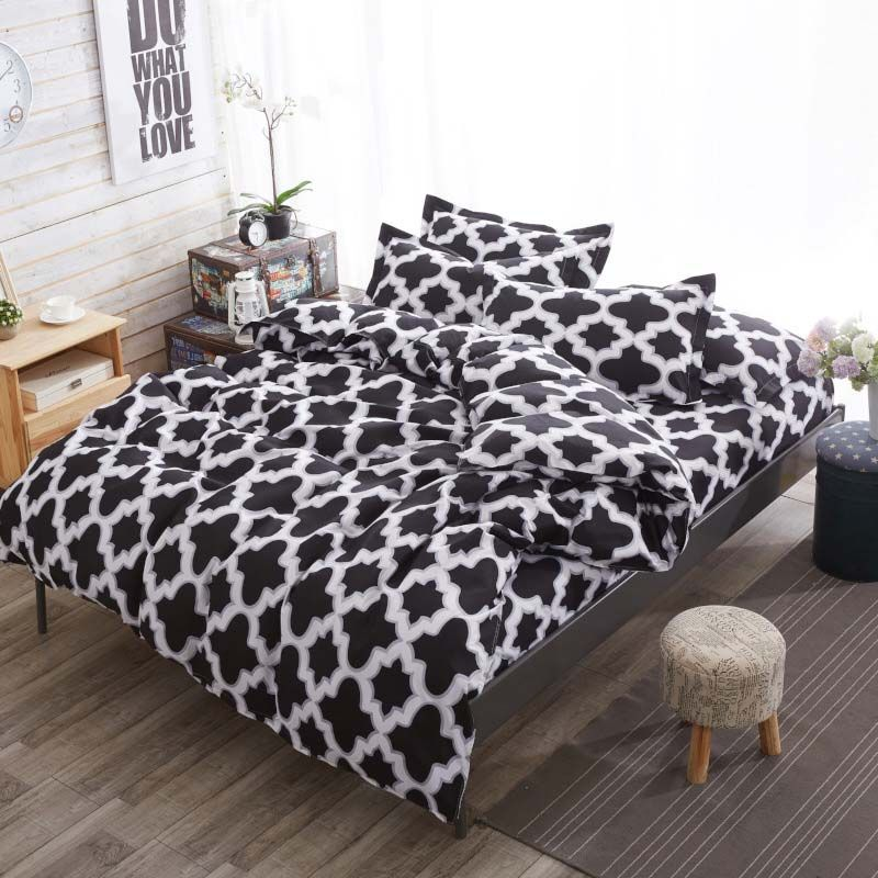 Photo of Nordic Simple Bedding Set Popular Geometric Pattern Bedclothes Boy…