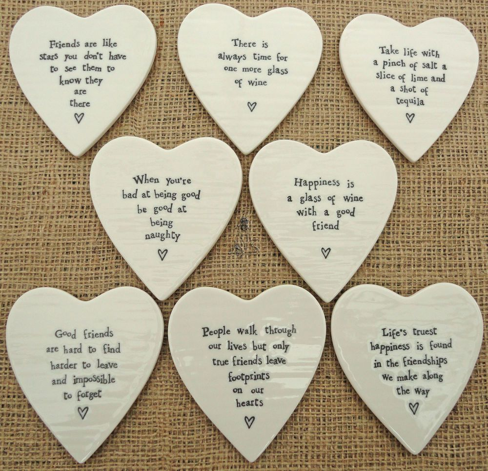 East of India Round Wooden Hanging Decoration Gift Quote Sentiment Tag