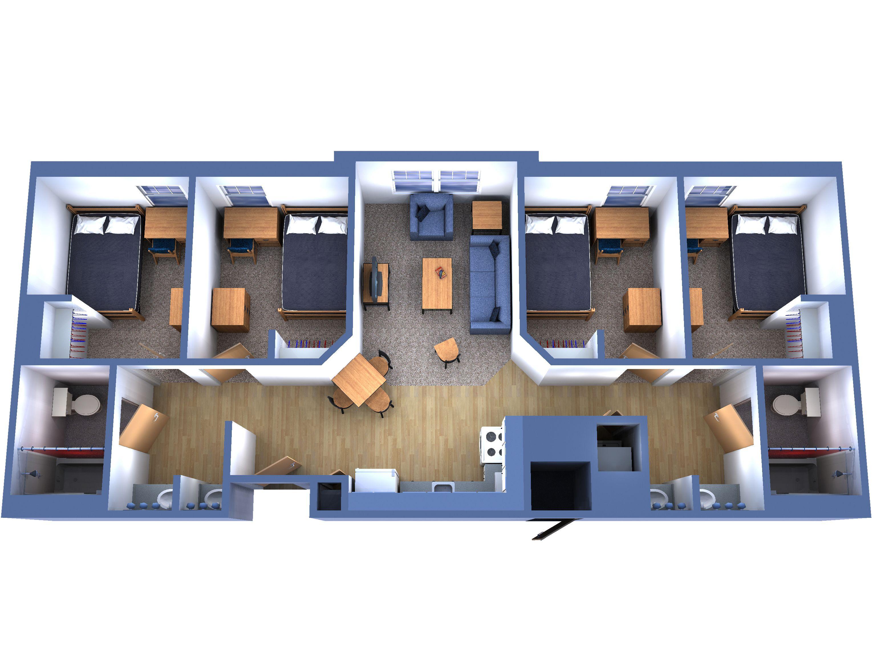 three bedroom flat layout - Google keresés | Házak | Pinterest ...