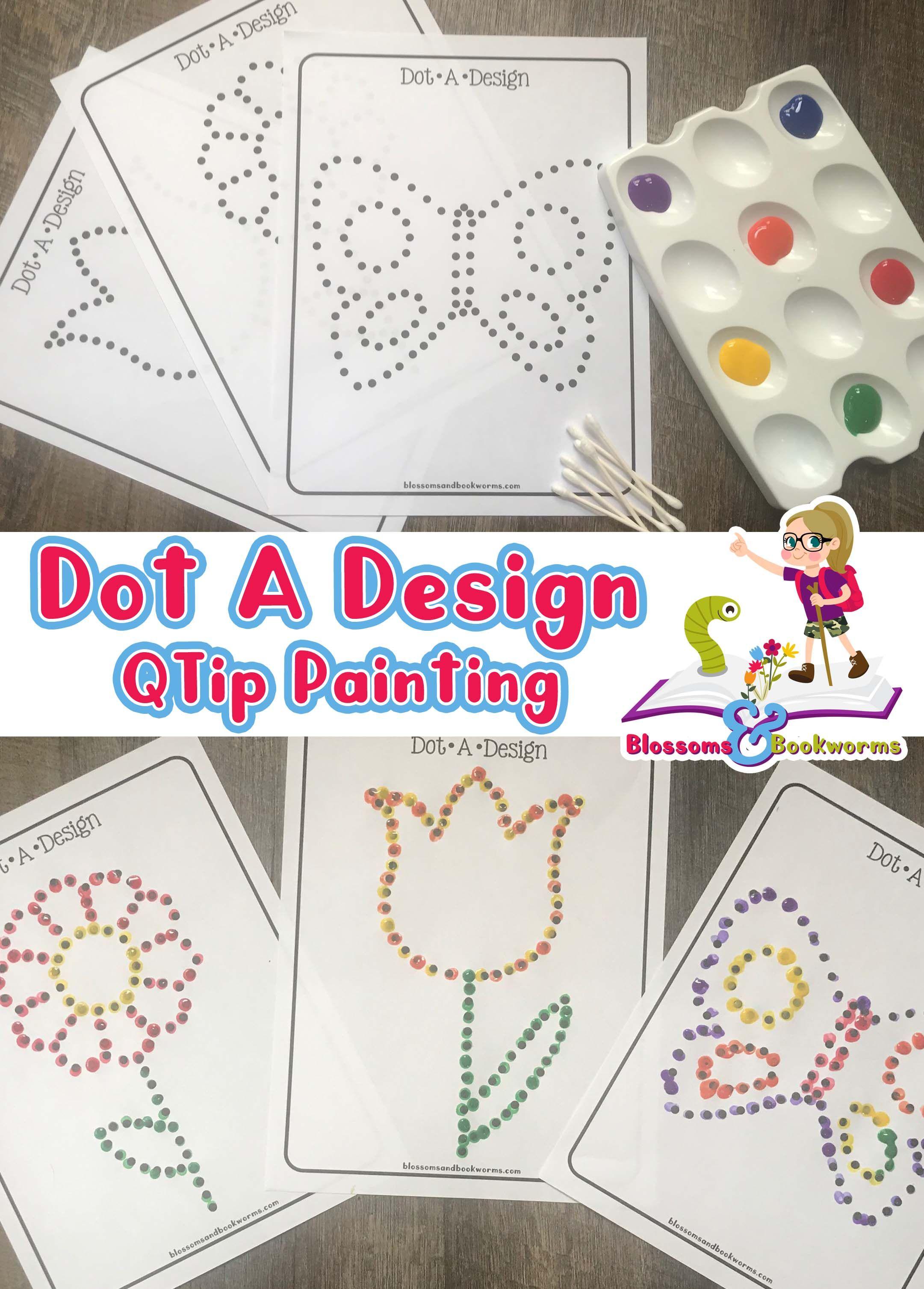 Dot A Design Spring Q Tip Painting Q Tip Painting Preschool Arts And Crafts Preschool Fine Motor [ 3012 x 2161 Pixel ]