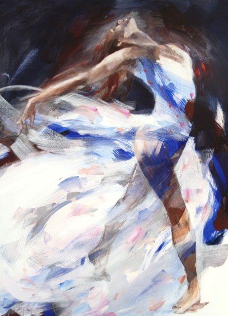 Christine Comyn Galeries Bartoux Aquarelle Personnages Danseur