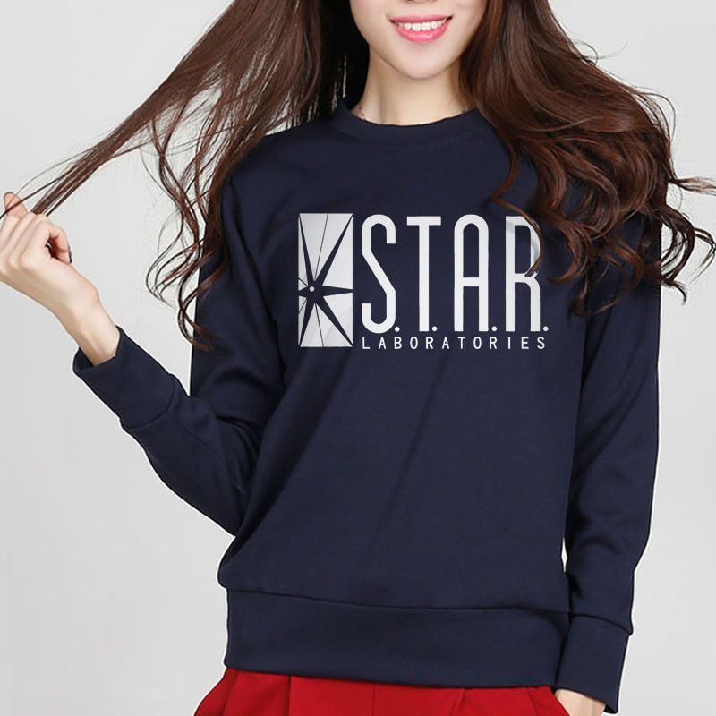 Sweatshirt Star Laboratories Women Comic Books TV Star Labs Slim ... c612caf93b9
