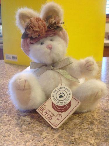 Boyds-Bears-Plush-PIPER-LAPINE-Fabric-Hat-Spring-Rabbit-Bunny-918430