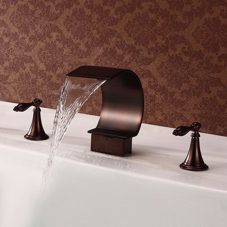 Antique Style Waterfall Oil Rubbed Bronze Two Handles Bathtub