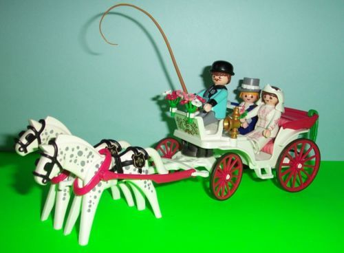 Playmobil Victorian Wedding Carriage 5601 With Bride Groom
