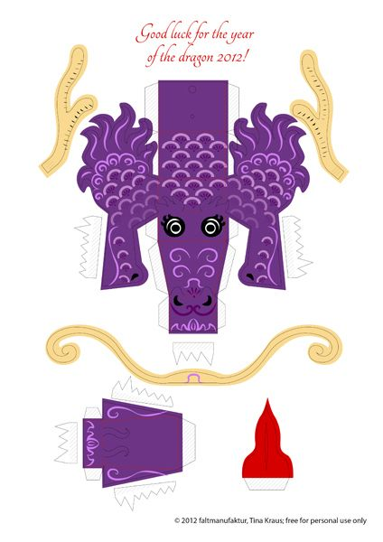 2012: Year of the dragon (and a freebie) | paper craft