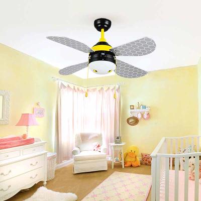 Creative Cartoon Bee Kid S Room Ceiling Fans Light Modern Baby Bedroom