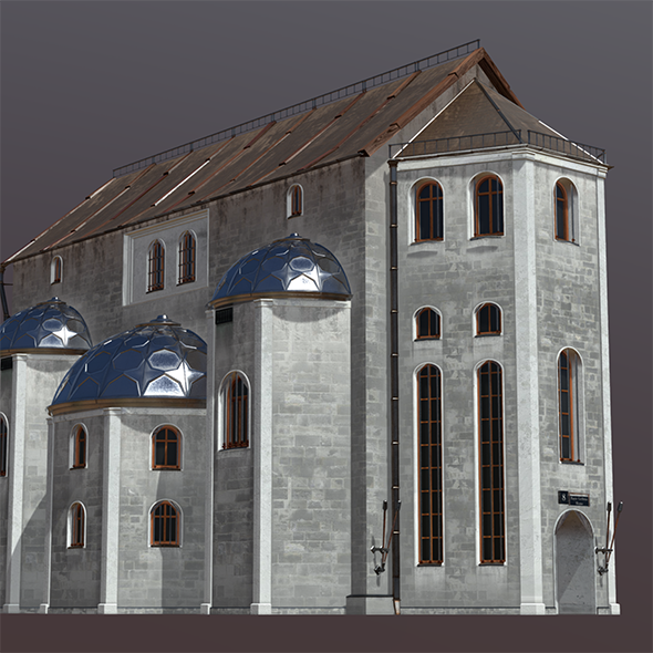 Medieval Fantasy House 7  Fully customizable 3D model of a
