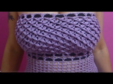 How tp crochet cute womens top blouse shirt dress tutorial 224 crocodile stitch dress show your crafts and diy projects dt1010fo