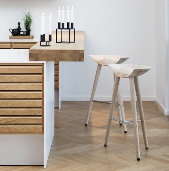 Lassen Stool In Oak, Danish Kitchen