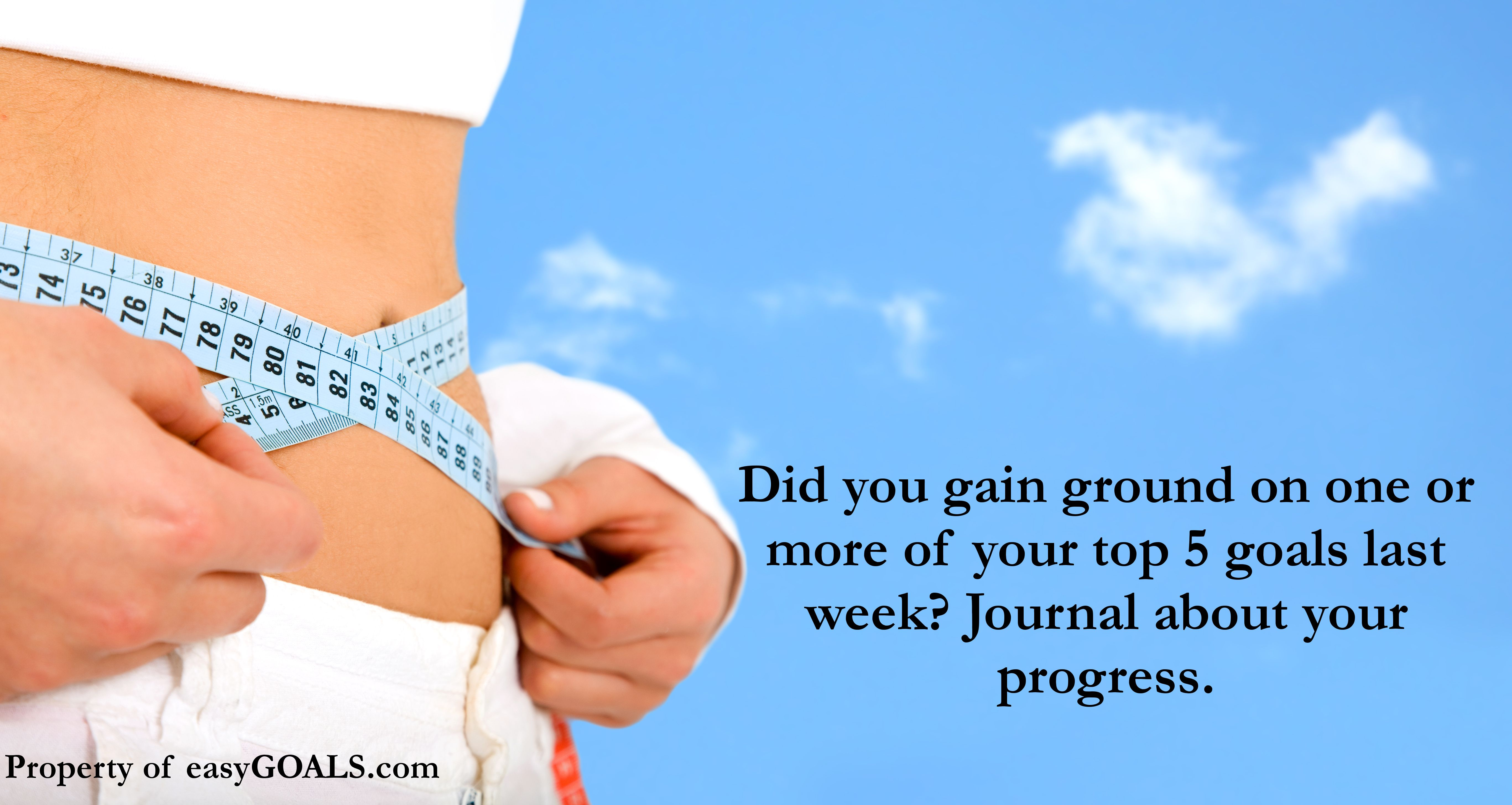 Did you gain ground on one or more of your top 5 goals last week? Journal about your progress. #easygoals #progress #goals #forward #dedication #goalsetting| http://easygoals.com/