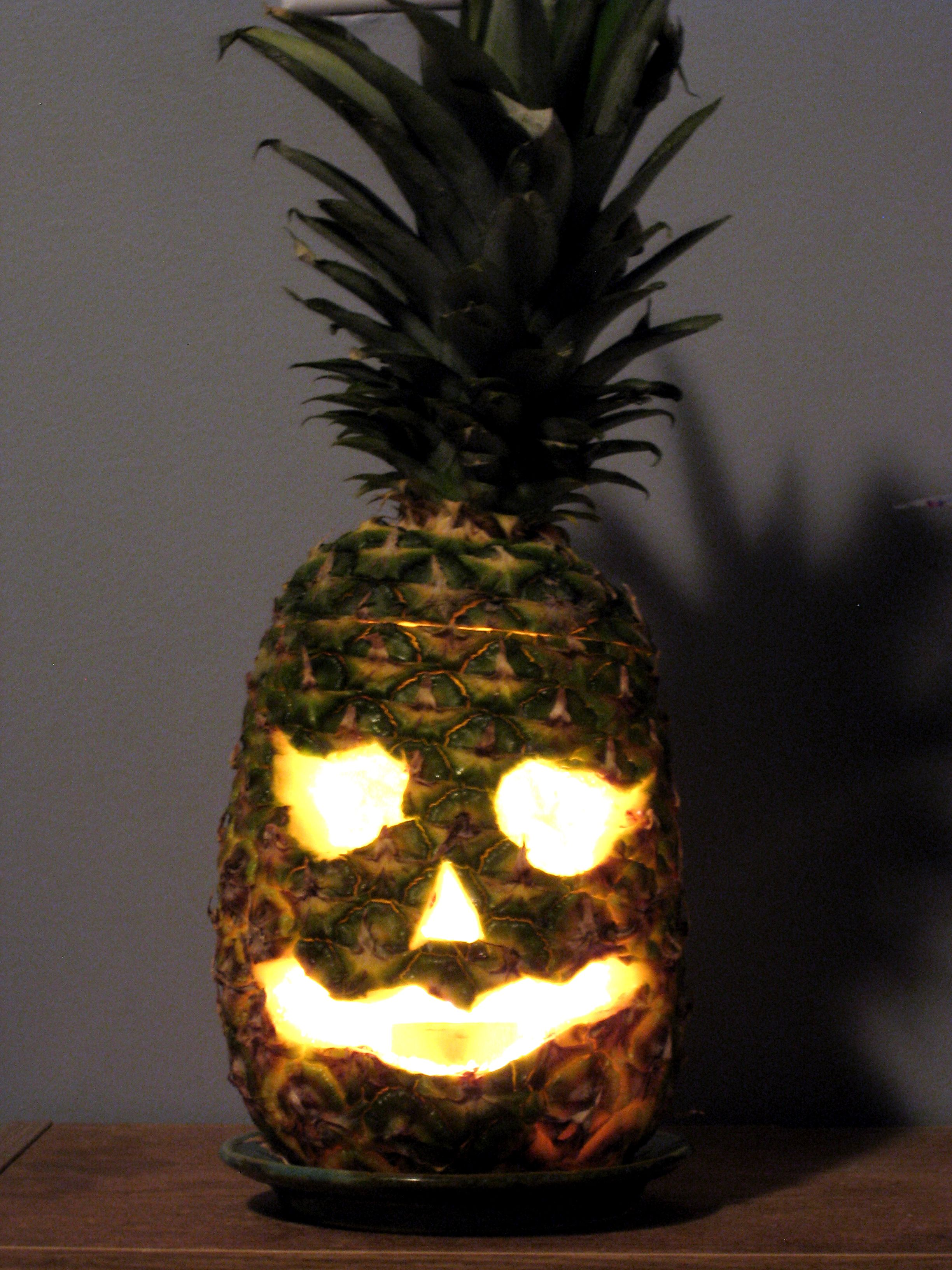 pineapple jack o lantern halloween pinterest