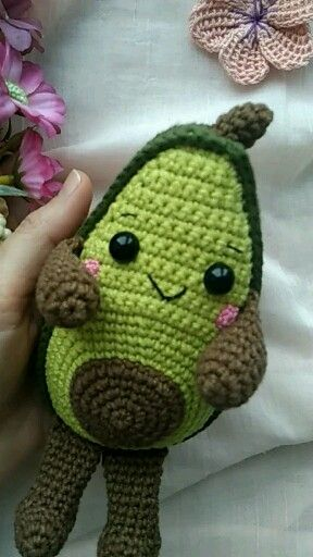Photo of Amigurumi crochet pattern avocado