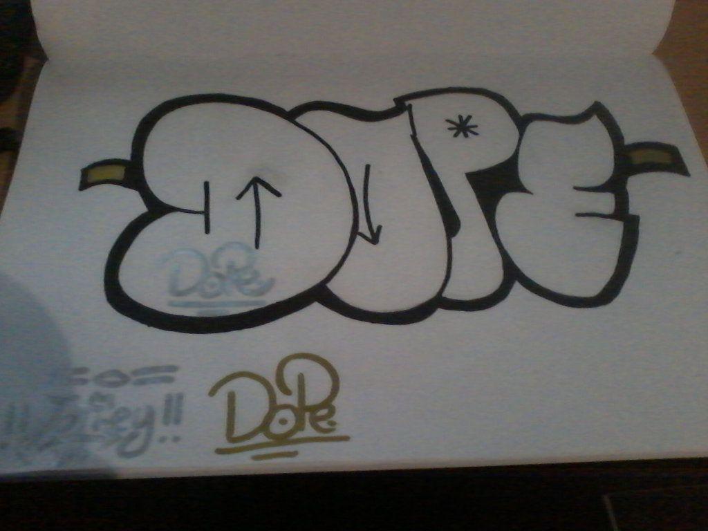 Dope Easy Word Graffiti Draw