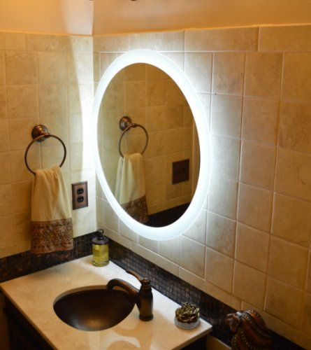 Wall Mounted Lighted Vanity Mirror Led Mam2d28 Commercial Grade 28 Round Led Mirrors And Marble H Mirror Wall Bedroom Lighted Wall Mirror Mirror Wall Bathroom