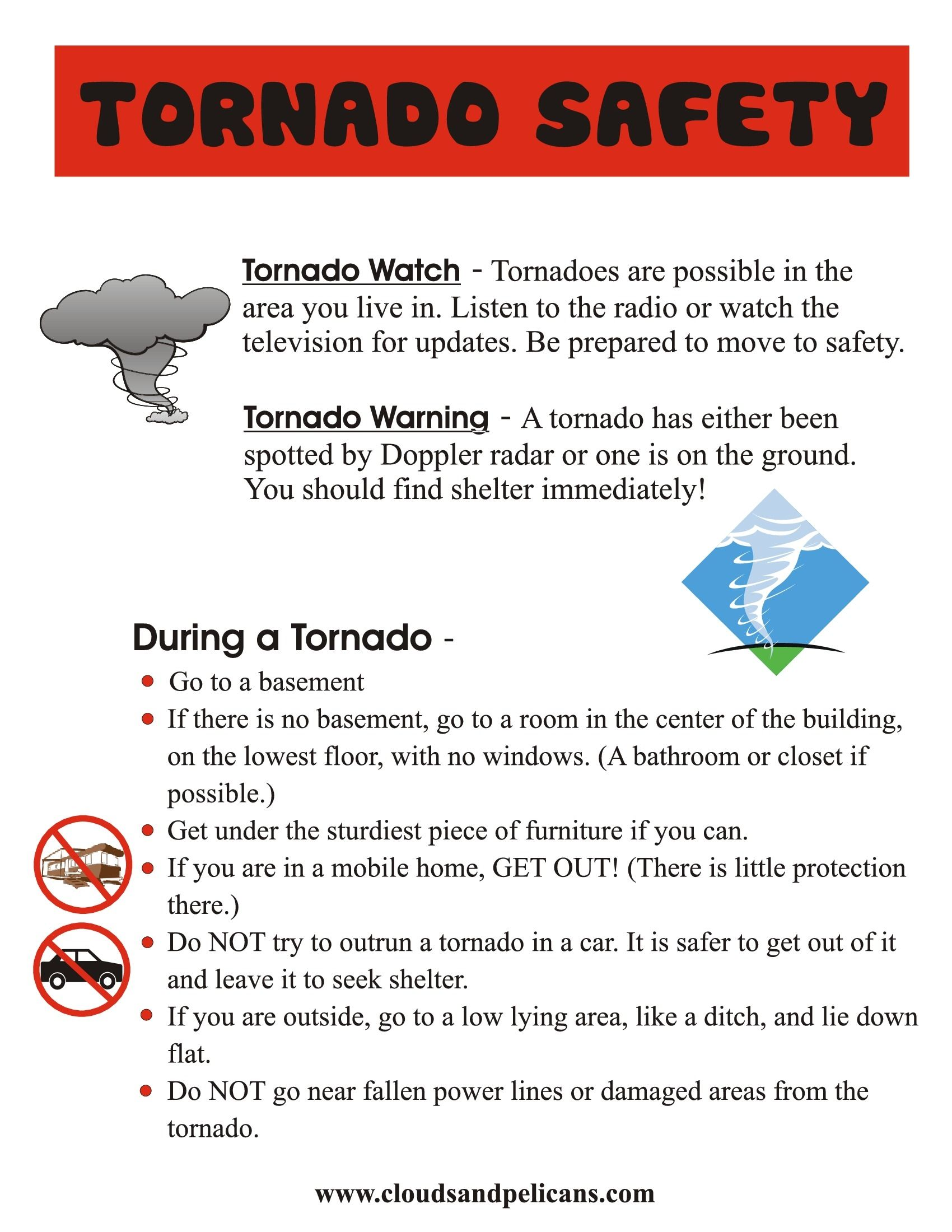 Easy Difference Between Tornado Watch And Warning  Staying Safe