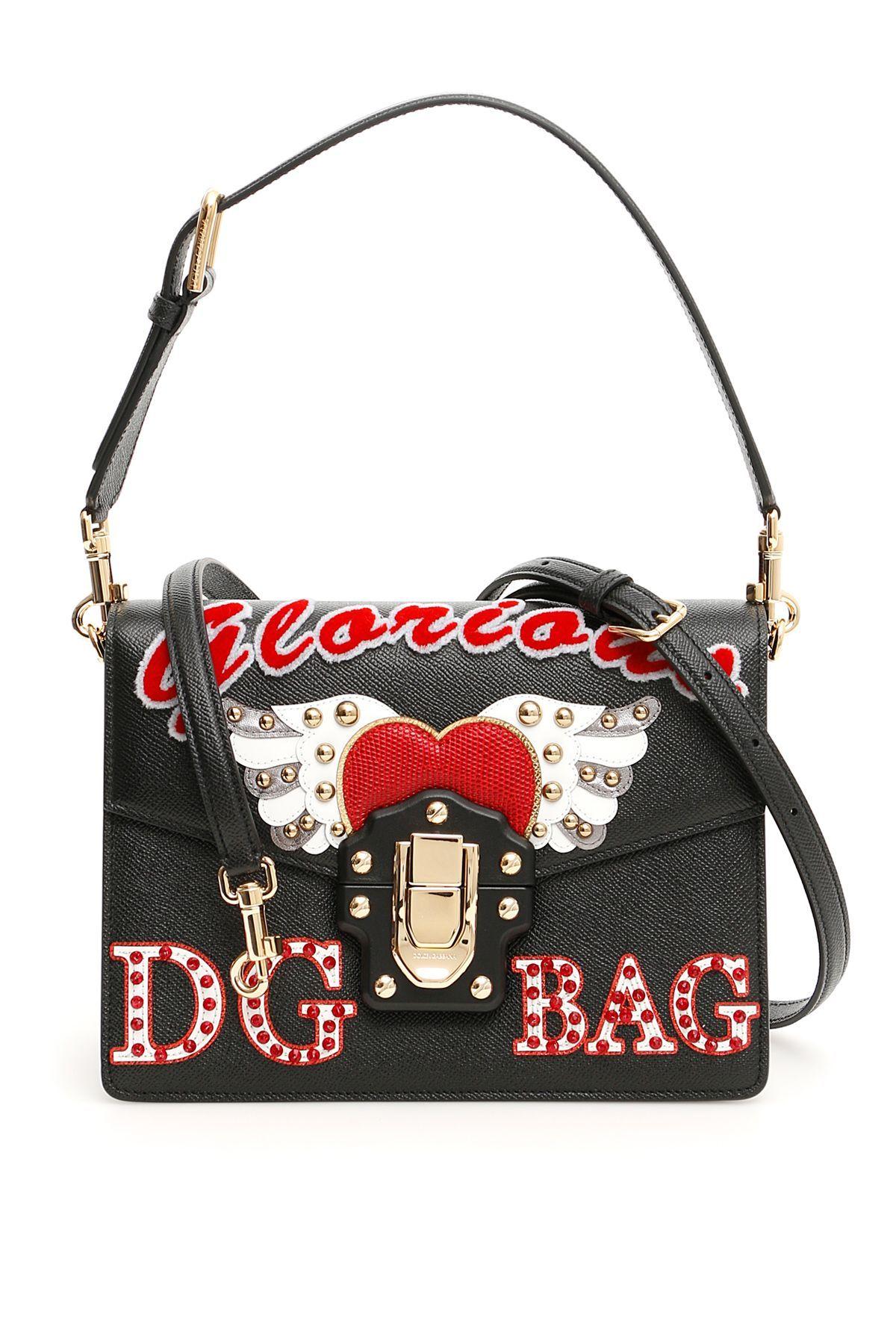 ea7508c9ea53 DOLCE   GABBANA LUCIA SHOULDER BAG.  dolcegabbana  bags  velvet  leather   lining  shoulder bags  crystal  hand bags