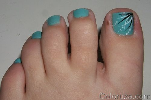 1000 Images About Toe Nail Designs On Pinterest Toe Nails Polish And  Leopard Toe Nails - Cute Dark Blue Nail Polish And Cute Little Flowers Great Summer