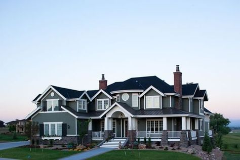 Luxury Waterfront House Plans With A Fantastic Rear View Dream House Exterior House Exterior Craftsman House