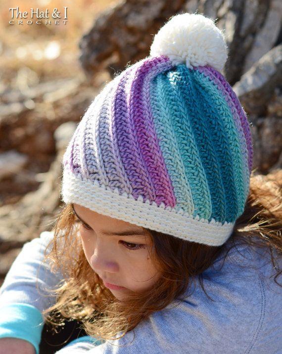 CROCHET PATTERN - Twist Top Beanie - crochet hat pattern, crochet ...