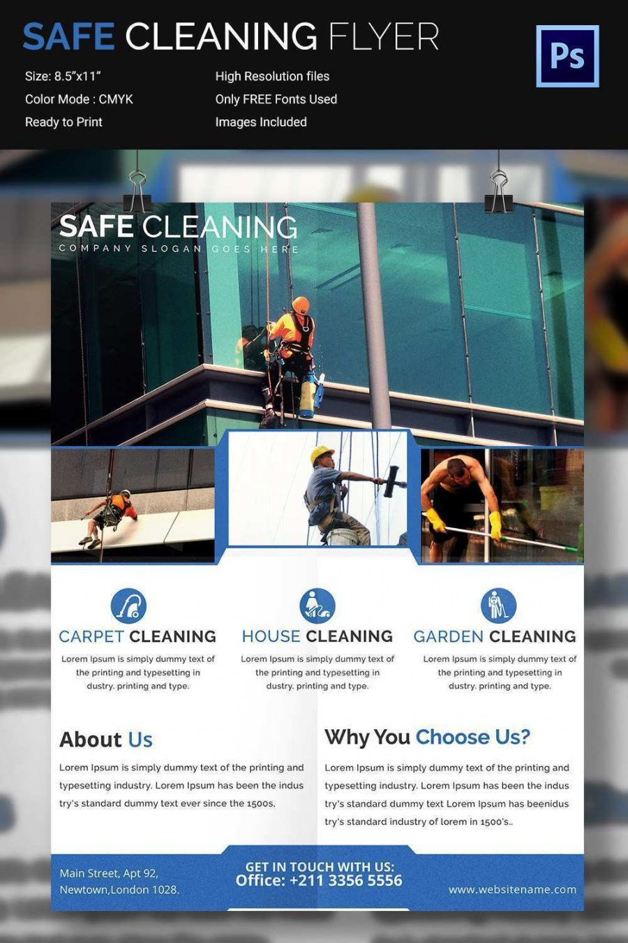 Get Our Example Of Window Cleaning Flyer Template For Free Flyer Template Business Card Printer Cleaning Flyers