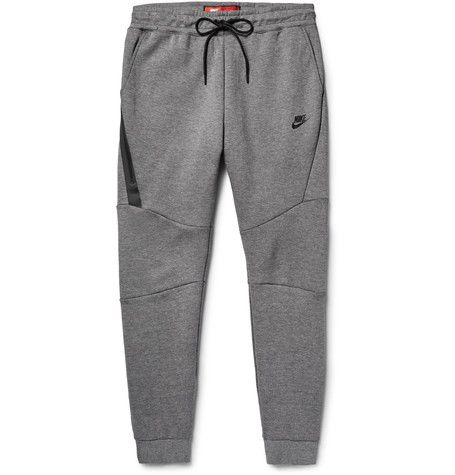 eb679f31bc95 NIKE Slim-Fit Tapered Cotton-Blend Tech Fleece Sweatpants.  nike  cloth   sweats