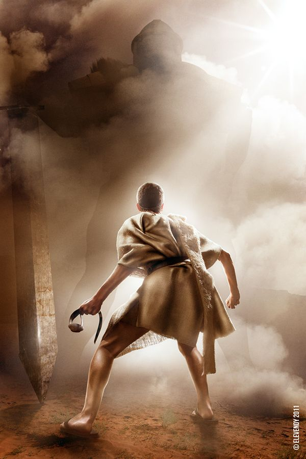 Epic Showdowns: David & Goliath on Behance | David and goliath, David bible, Bible pictures