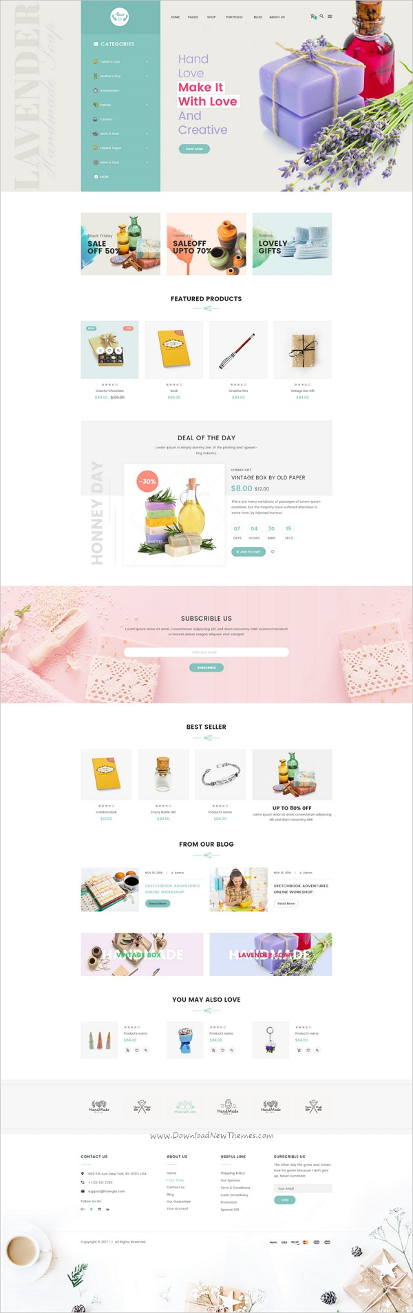 HandLove is a modern #Photoshop #eCommerce #theme suitable for handmade shop, gift shop, fashion shop websites download now➩ https://themeforest.net/item/handlove-ecommece-psd-template/19194085?ref=Datasata