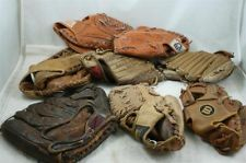 Vintage Lot 8 Old Baseball Gloves Mitts Wilson, Rawlings, Spaulding, Wards, Plus