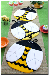 Placemats Pattern - Bee Happy : Shibori Dragon