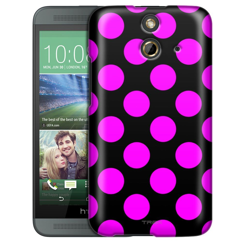 HTC One E8 Pink Polka Dots Slim Case