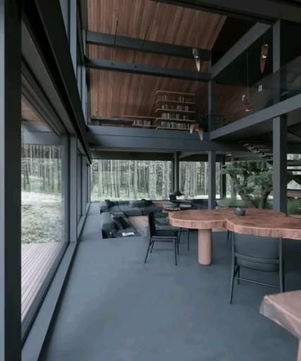 Dark Contemporary residence in the Woods 🖤 archoskar