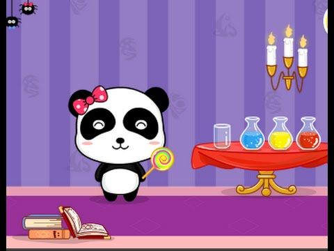 Baby Panda color games, Kids learn colors with BabyBus Magical Color ...