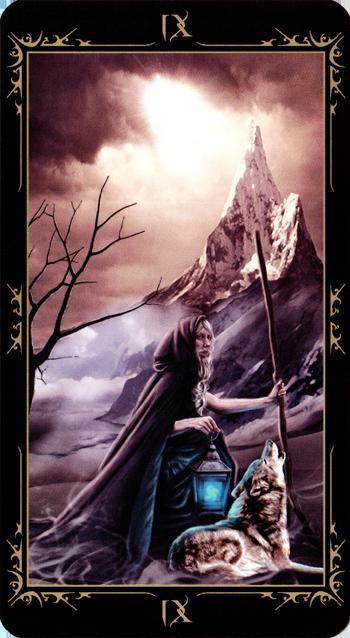 The Hermit - Dark Fairytale Tarot