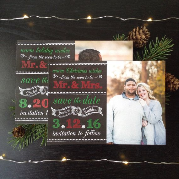Warm Holiday Wishes Save the Dates \u2022 Holiday Save the Date