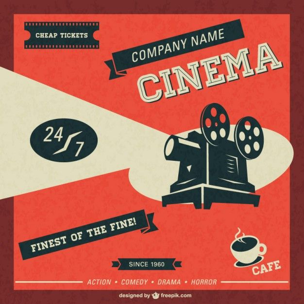 Cinema retro template free download Art Workshop Pinterest - create a ticket template