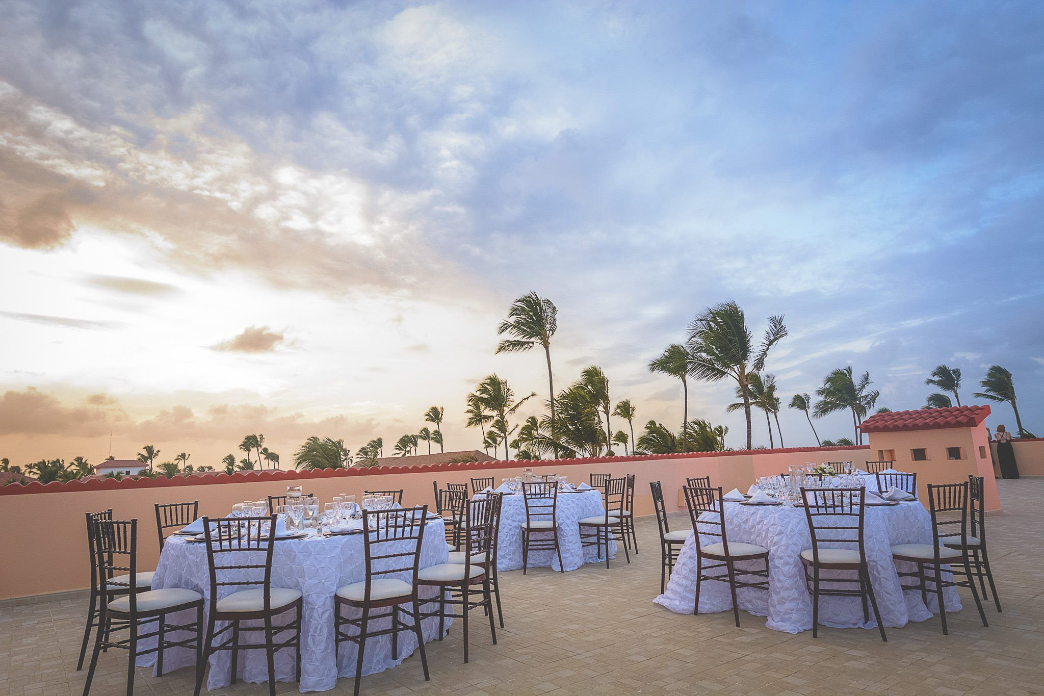 Presidential Suite wedding reception setup at Majestic Colonial