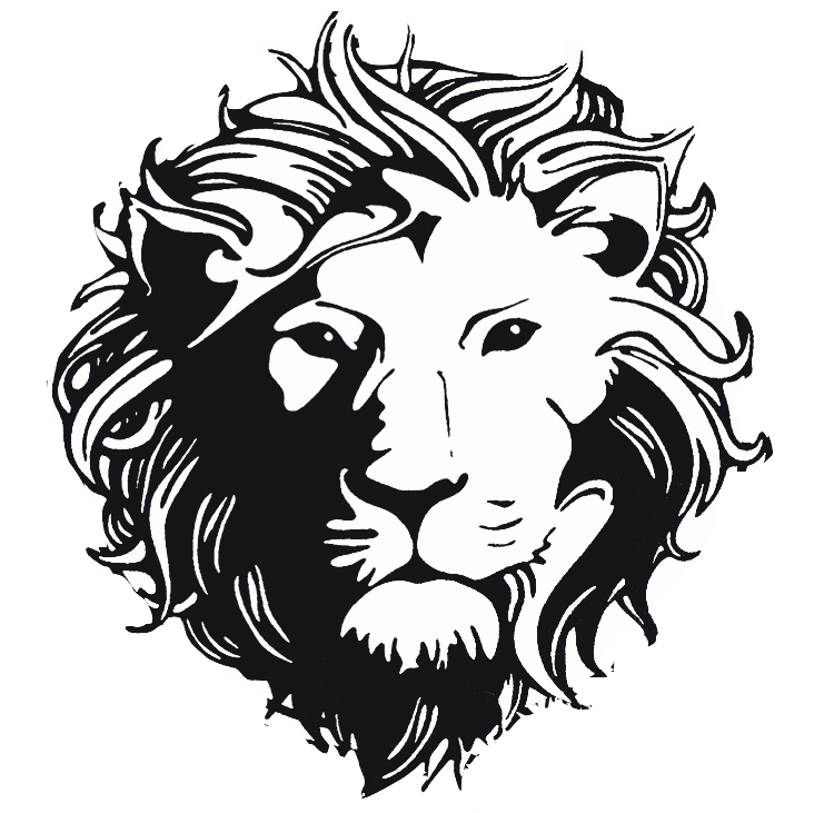 Versus Versace Lion Head Silhouette Art Skull Art Drawing Lion Art