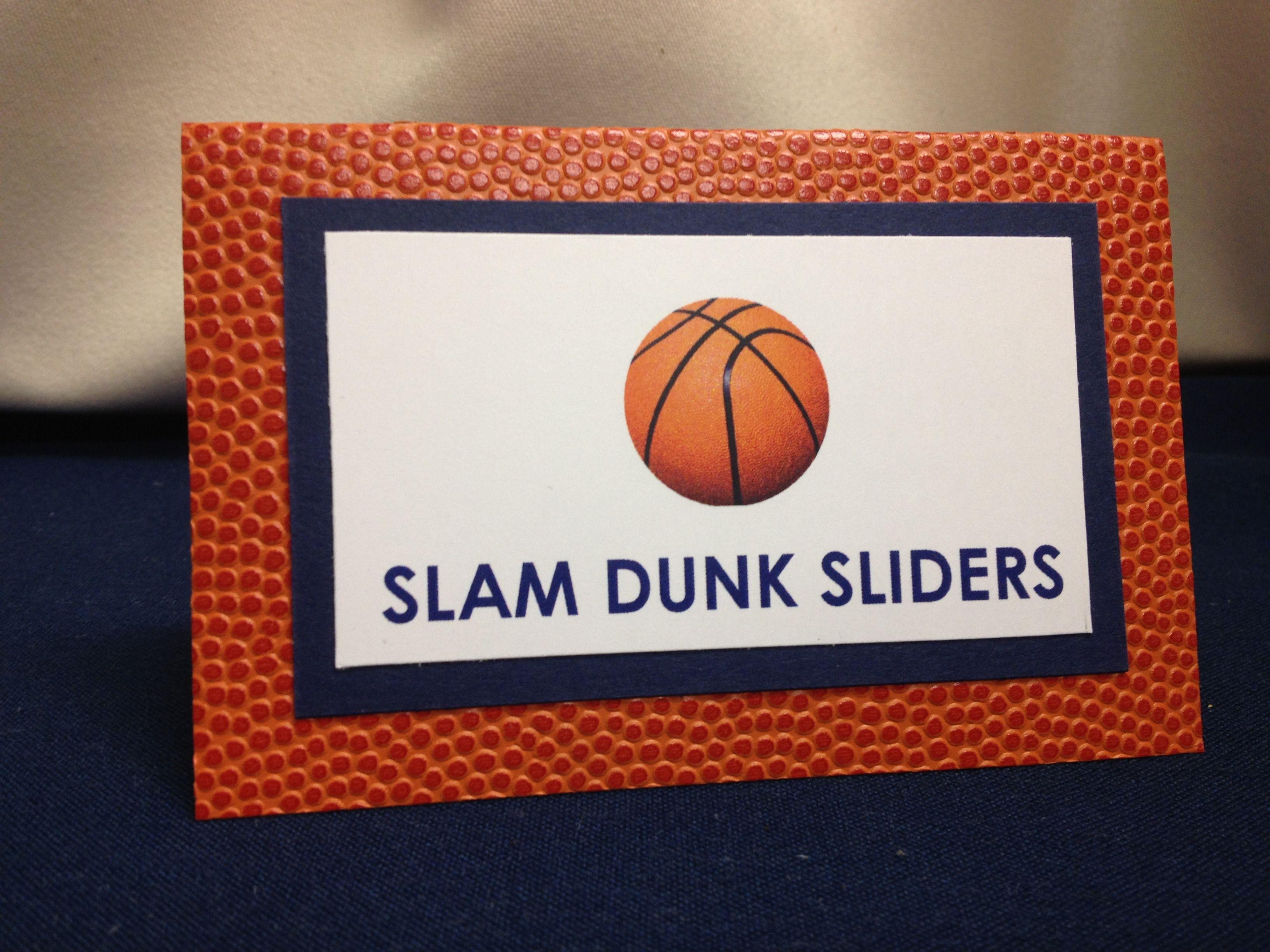 Easy baseball party food name tags basketball stationary