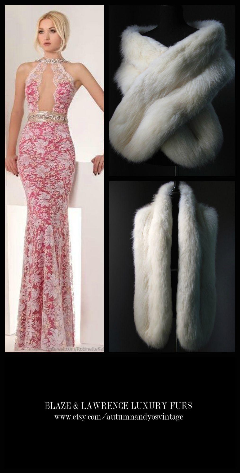 Stay luxuriously warm……..……...https://www.etsy.com/shop/AutumnandYosVintage?ref=hdr_shop_menu….#luxury #luxurylife #luxe #fashion #style #trend #gown #dress #fur #mink #fox #classic #gift #wedding #bridal #redcarpet #blacktie #luxury #LuxuryGowns + #LuxuryFurs = #PerfectCombination…….GET THIS LOOK: Tony Chaaya Spring Summer 2013 Gown + Blaze & Lawrence Luxury Fur Stole