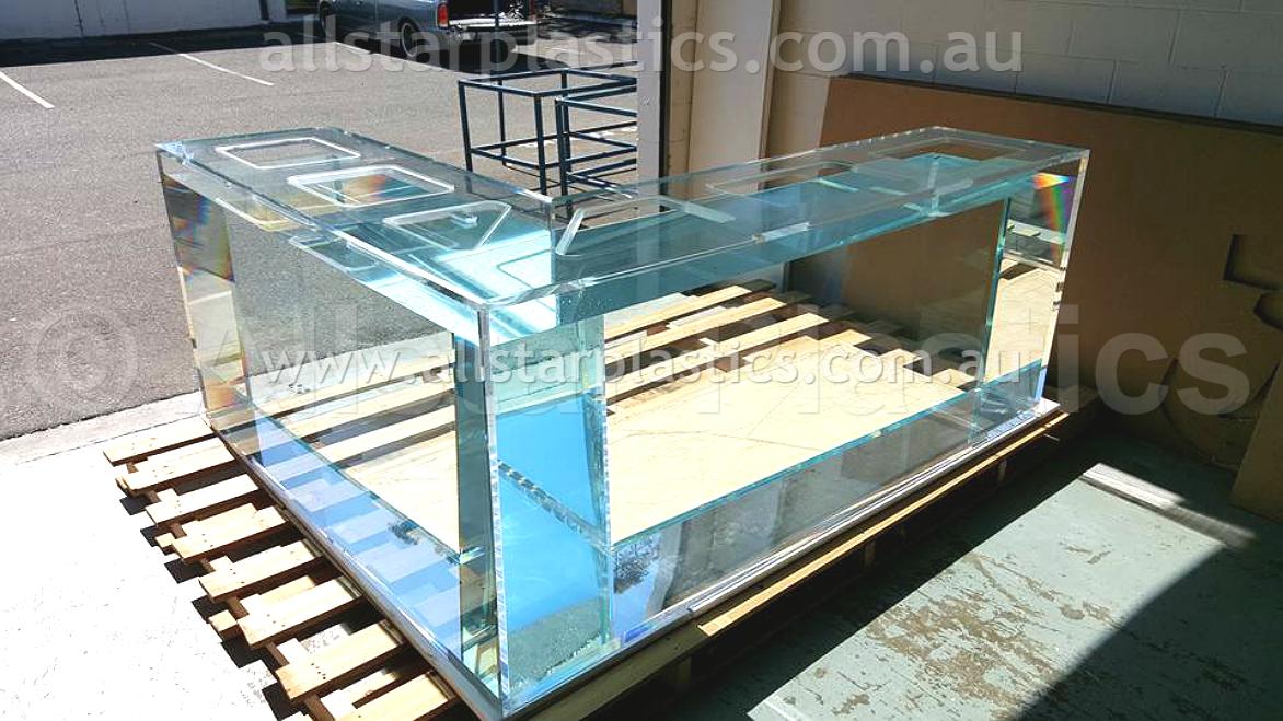 Rectangle Aquarium with shaped lid. Custom Made from Plexiglas