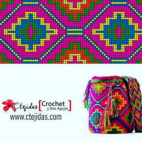 Galería y Patrones: Bases y Cuerpos de Mochilas Wayuu ~ CTejidas ...