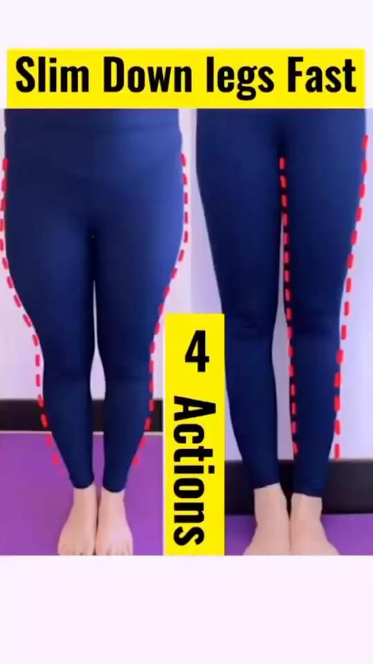 Slim down your legs with 4 easy workouts