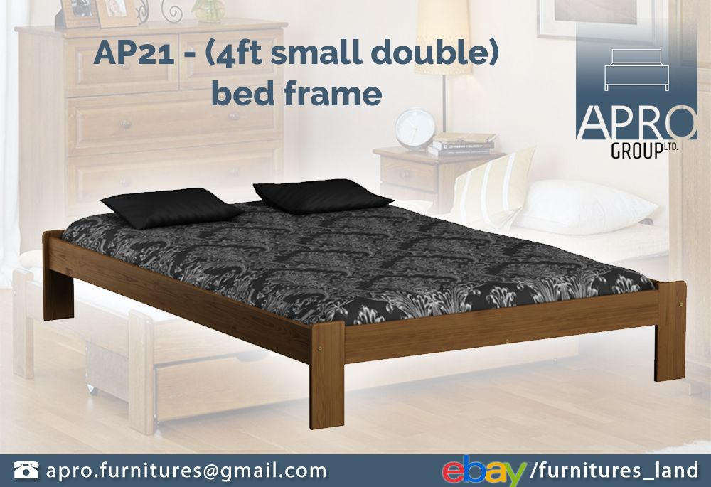 Details About Wooden Pine Wood Bed Frame Single Double 120x190 Oak