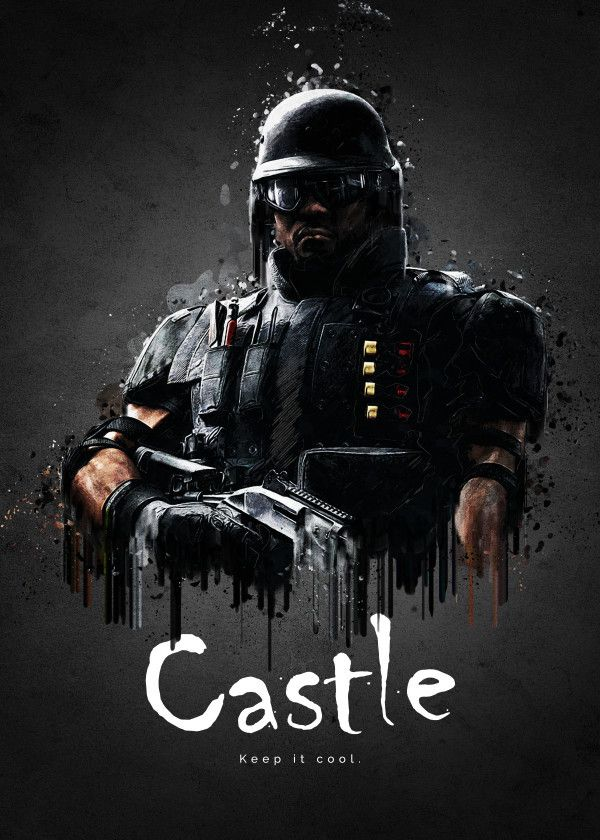 Rainbow Six Siege Characters Castle Displate Artwork By Artist