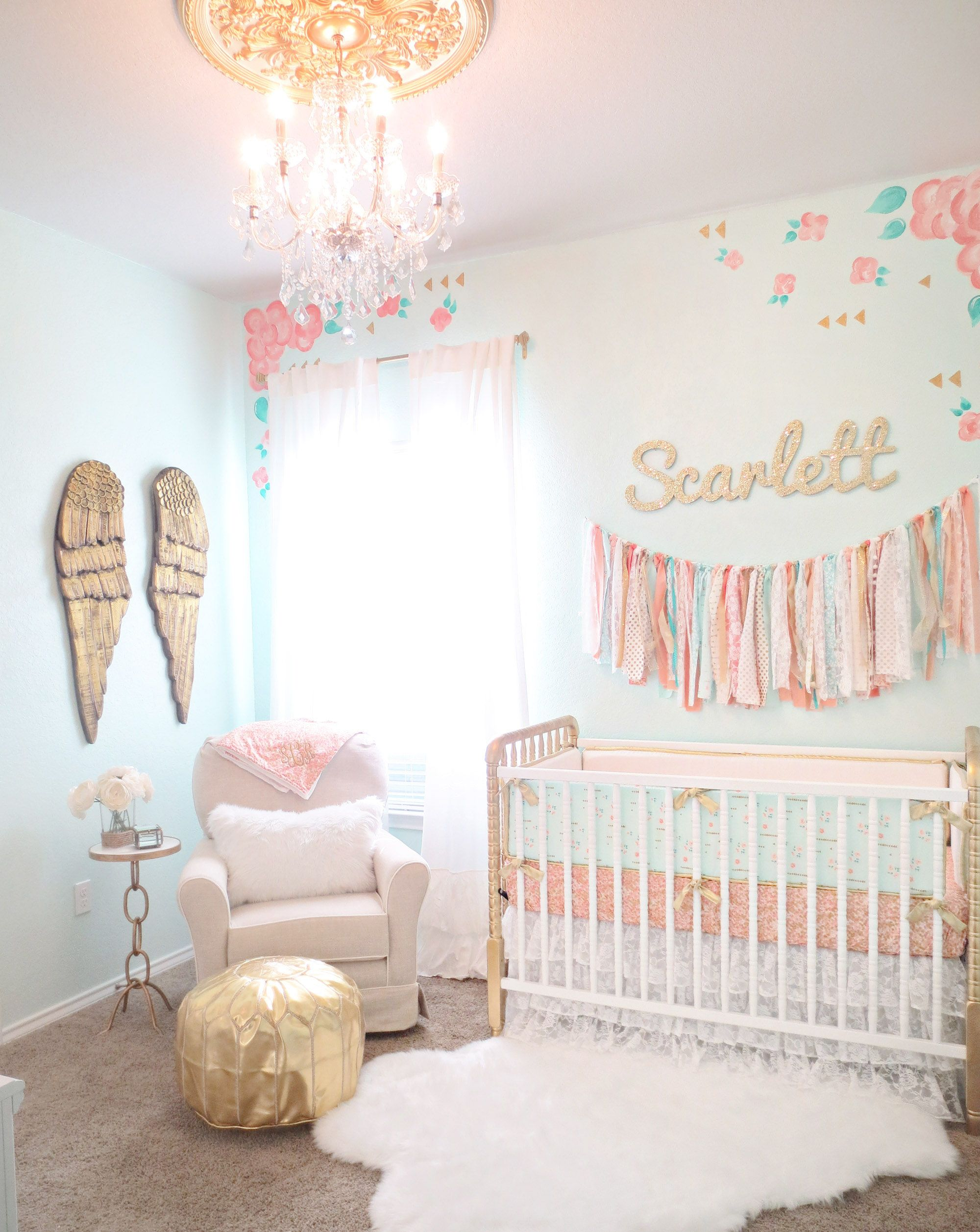 Design Reveal: Vintage Lace Nursery | Nursery, Floral and Gold