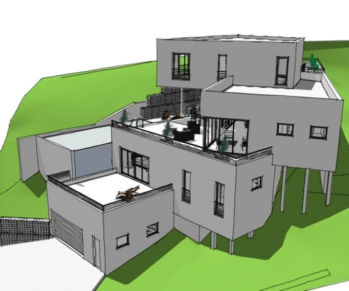 marseille Construire en pente Pinterest Marseille and House - construction maison terrain en pente