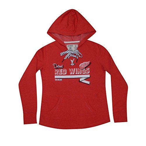 PLUS SIZE NHL DETROIT RED WINGS Womens Athletic Warm Hockey Hoodie 2XL Red