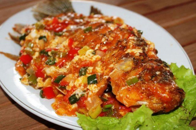 Resep Ikan Gurame Panggang Saus Tiram Spesial Iniresep Com Resep Resep Ikan Resep Masakan Resep