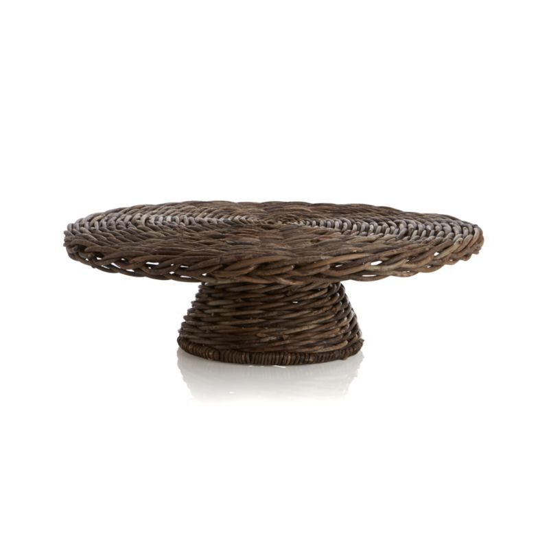 crate and barrel footed cake stand with dome